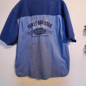 Mens Harley Davidson button up shirt